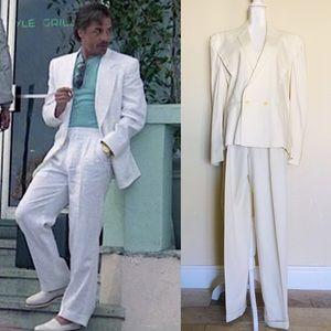 Men's Vice Vintage 80's Off White 2 Piece Suit